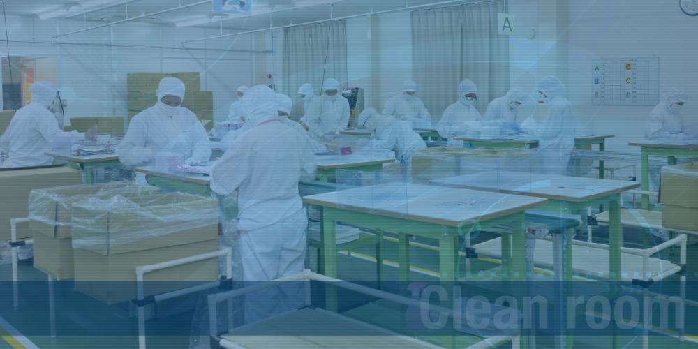 衛生医療用品に対応した包装梱包ライン